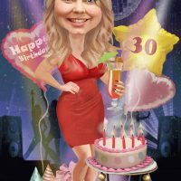 30th Birthday Caricature