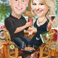 Wedding Anniversary Caricature