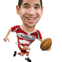 Rugby Caricature