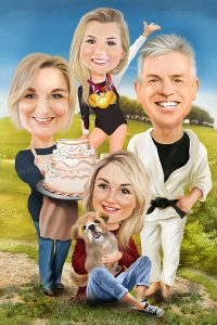 Family Caricature 22612