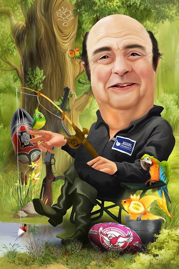 Fishing Caricature 22607
