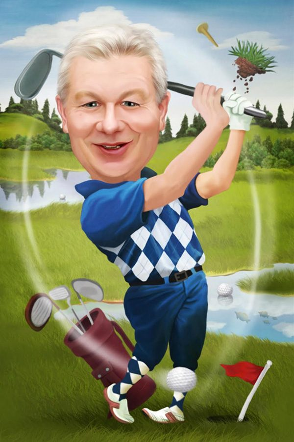 Golf Caricature