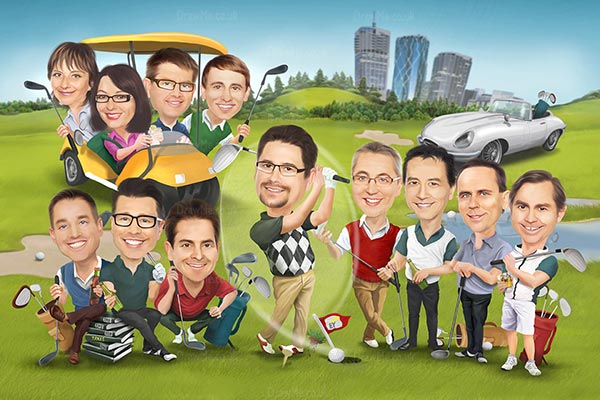 group-caricature-22150
