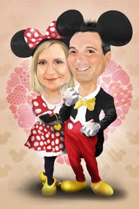 Mickey and Minnie Mouse Caricature 22587